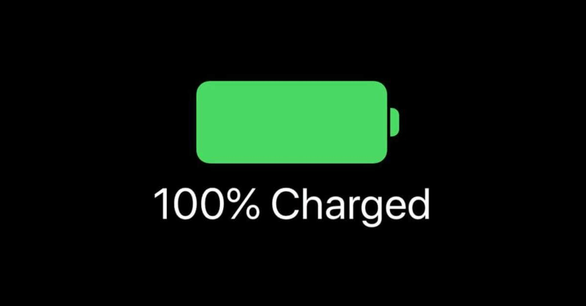 iphone fully charged